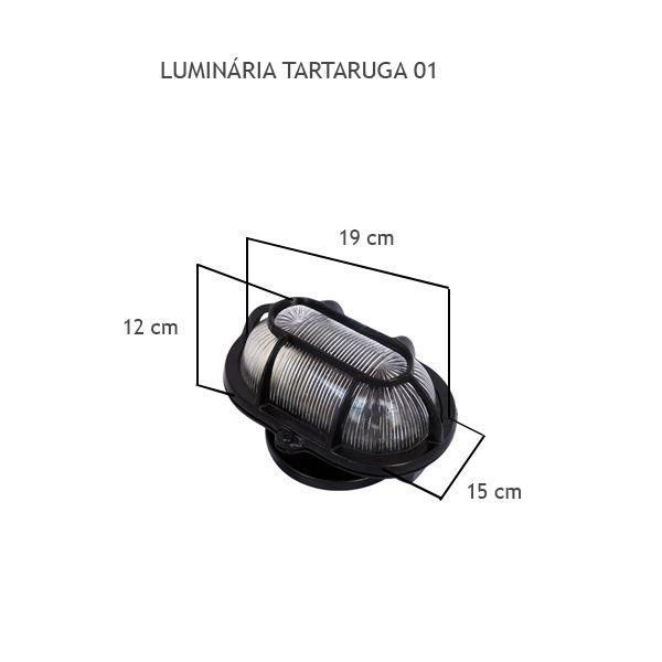 Luminária Tartaruga 01 - FUNDIÇÃO VESUVIO