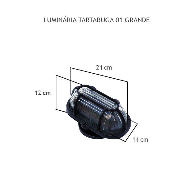 Luminária Tartaruga 01 Grande - FUNDIÇÃO VESUVIO
