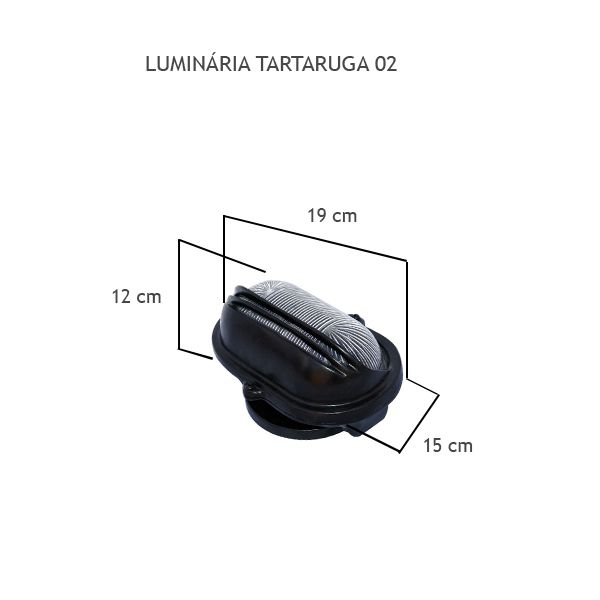 Luminária Tartaruga 02 - FUNDIÇÃO VESUVIO