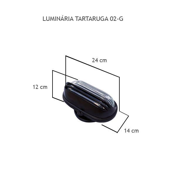 Luminária Tartaruga 02 Grande - FUNDIÇÃO VESUVIO