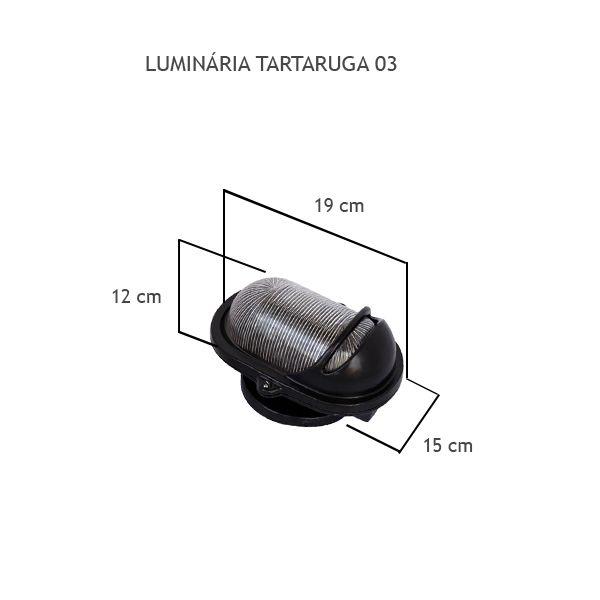 Luminária Tartaruga 03 - FUNDIÇÃO VESUVIO