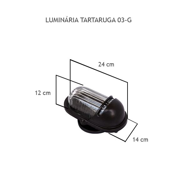 Luminária Tartaruga 03 Grande - FUNDIÇÃO VESUVIO