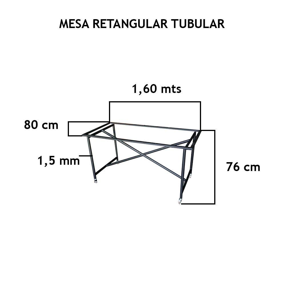 Mesa Retangular Tubular - FUNDIÇÃO VESUVIO
