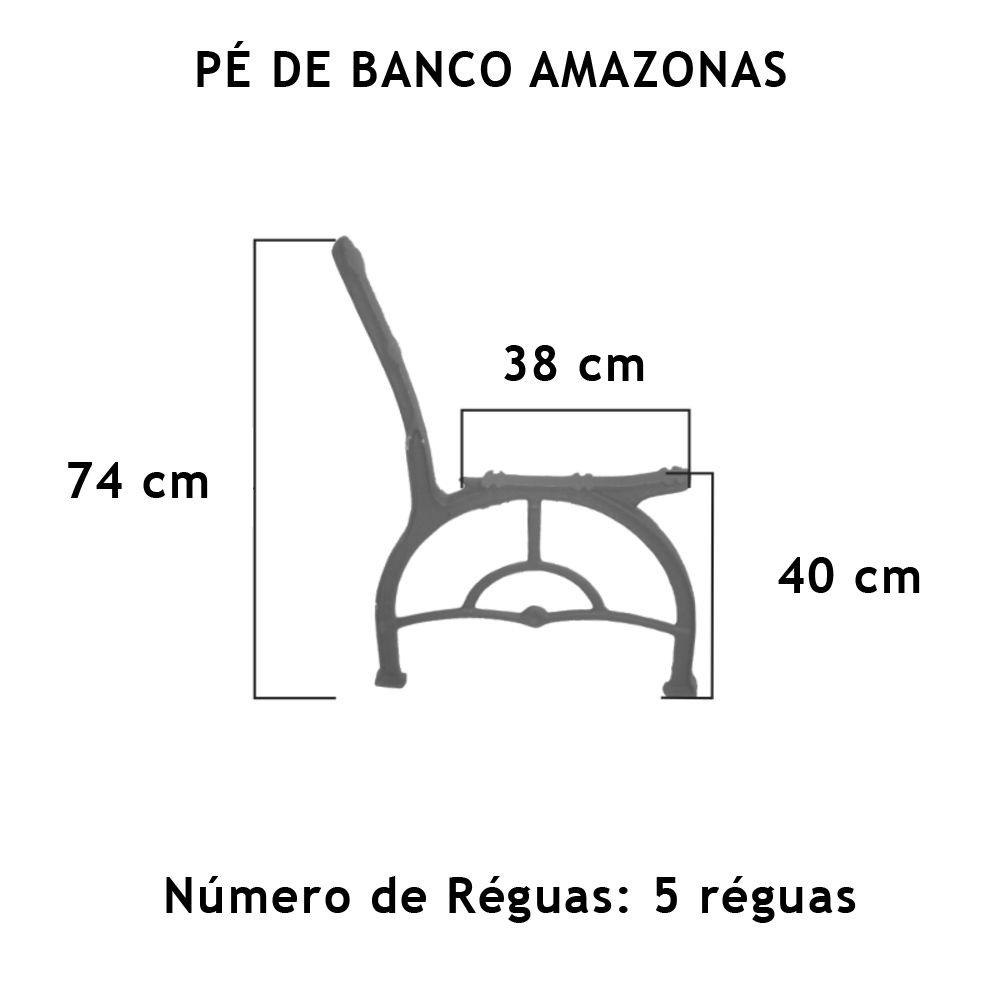 Par Pé De Banco Amazonas 5 Réguas - FUNDIÇÃO VESUVIO