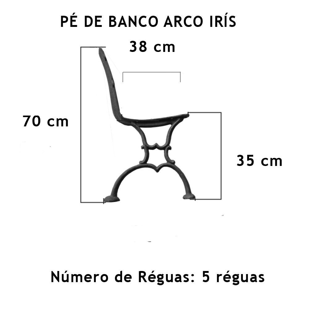 Par Pé De Banco Arco Íris 5 Réguas - FUNDIÇÃO VESUVIO