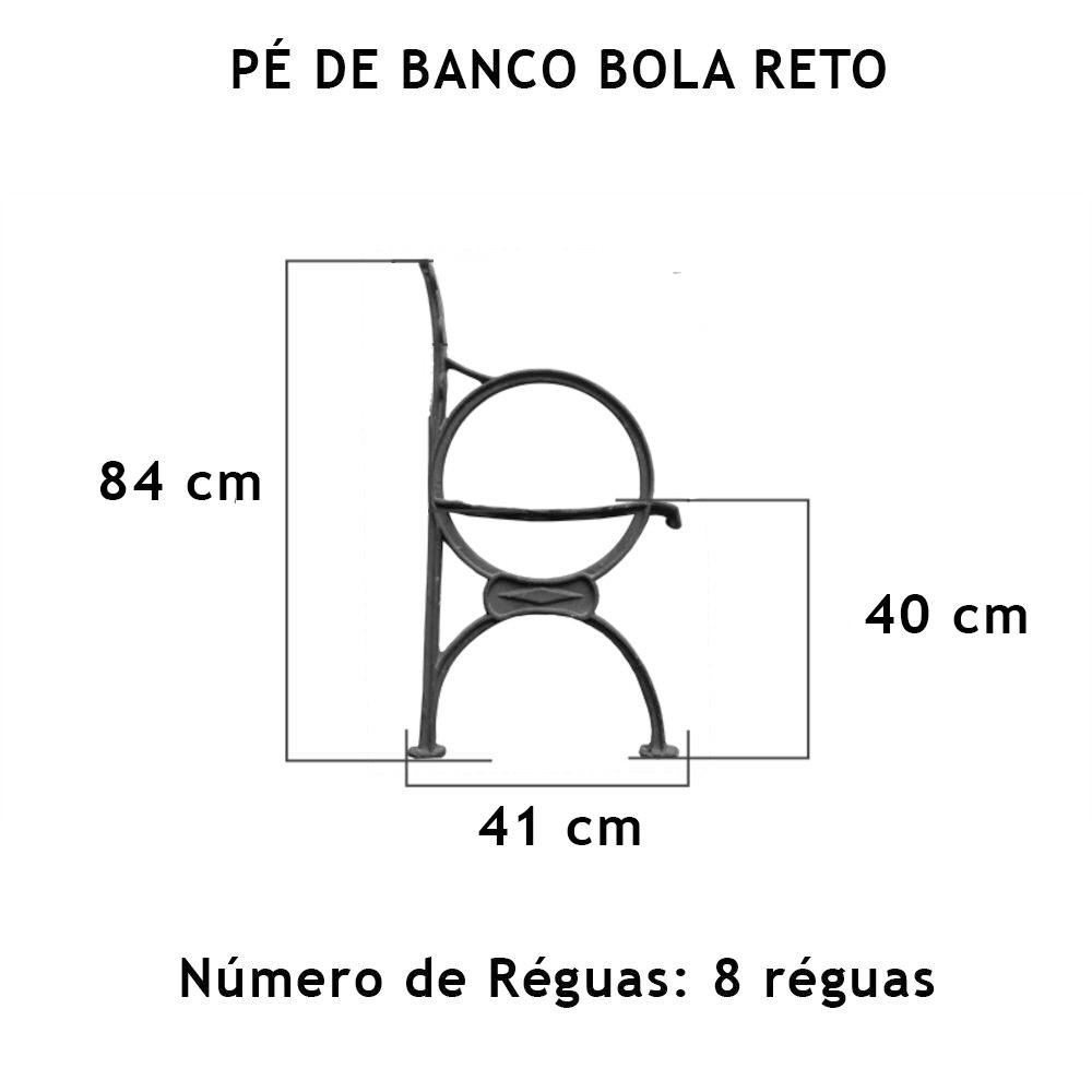 Par Pé De Banco Bola Reto 8 Réguas - FUNDIÇÃO VESUVIO