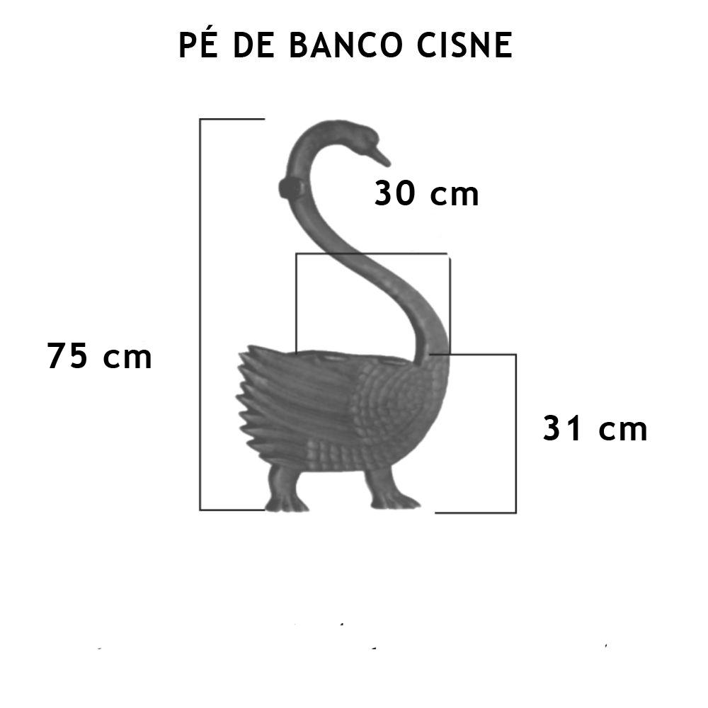 Par Pé De Banco Cisne 2 Ou 3 Tábuas - FUNDIÇÃO VESUVIO