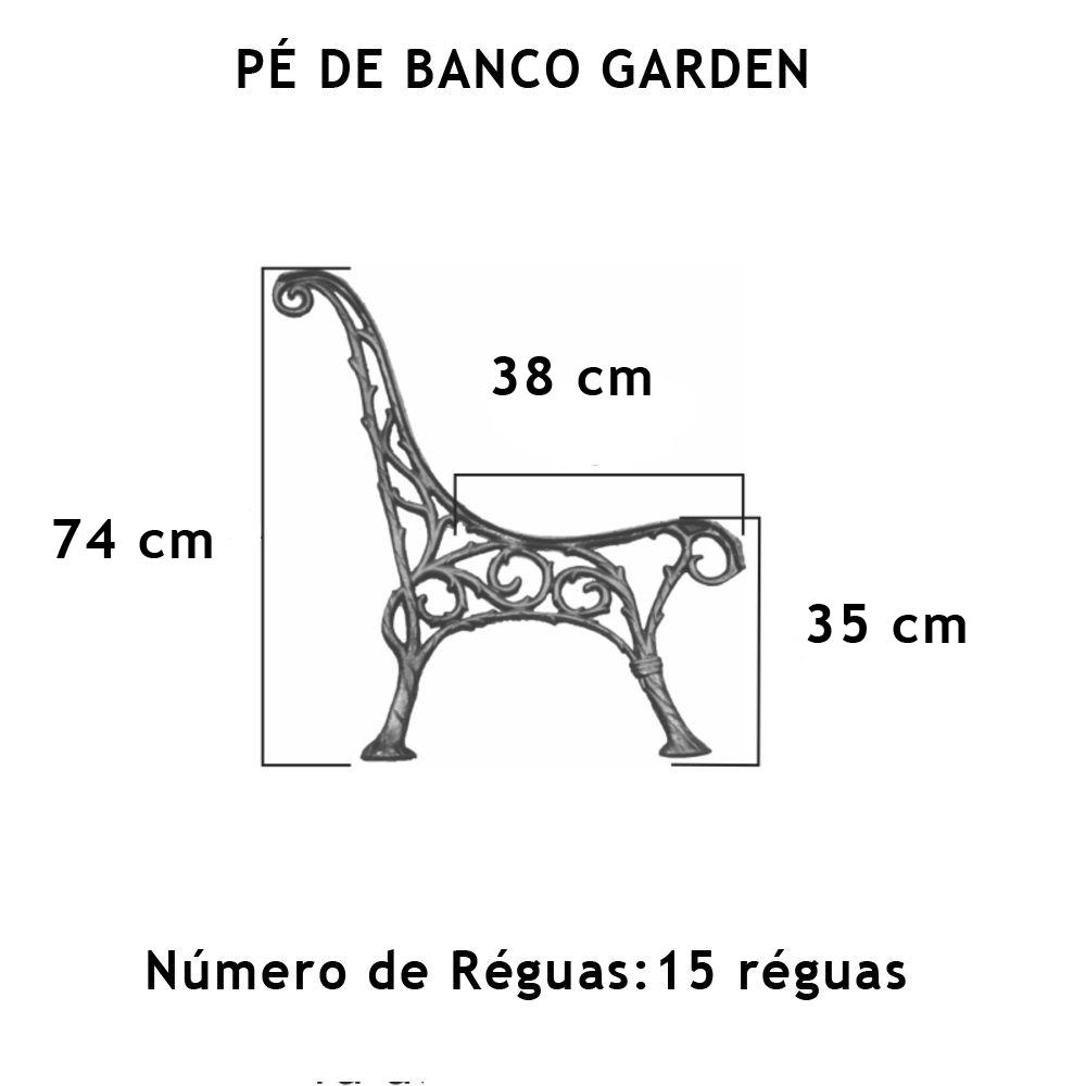 Par Pé De Banco Garden 15 Réguas - FUNDIÇÃO VESUVIO