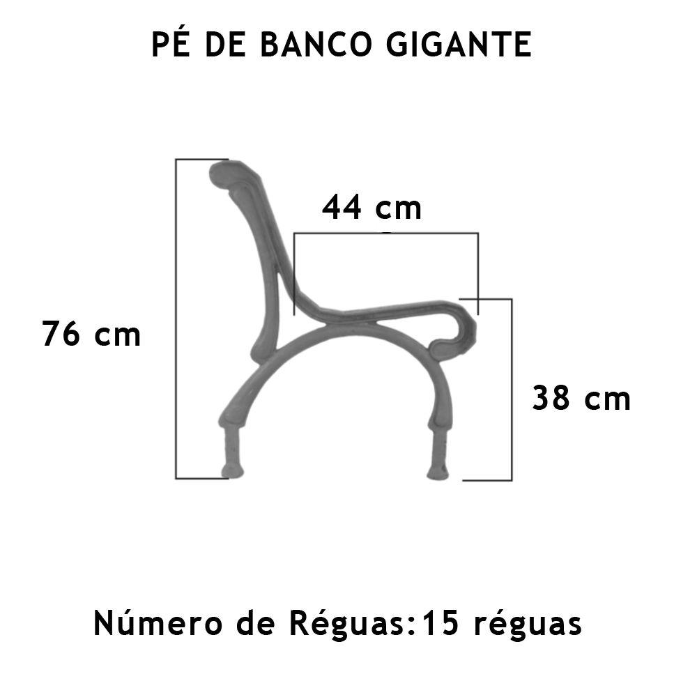 Par Pé De Banco Gigante 15 Réguas - FUNDIÇÃO VESUVIO