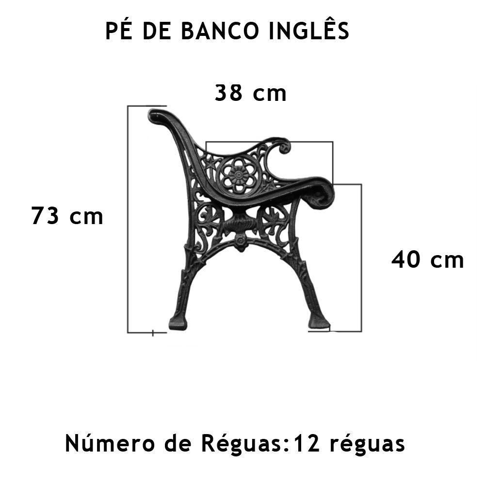 Par Pé De Banco Inglês 12 Réguas - FUNDIÇÃO VESUVIO
