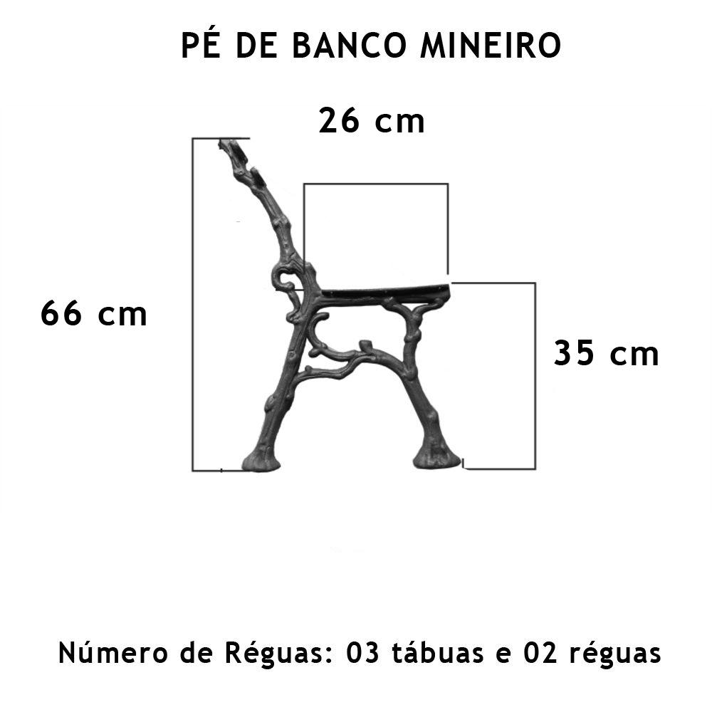 Par Pé De Banco Mineiro 5 Réguas - FUNDIÇÃO VESUVIO