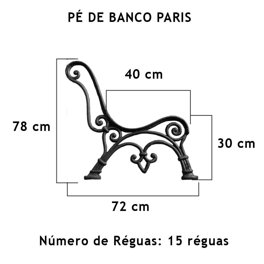 Par Pé De Banco Paris 15 Réguas - FUNDIÇÃO VESUVIO