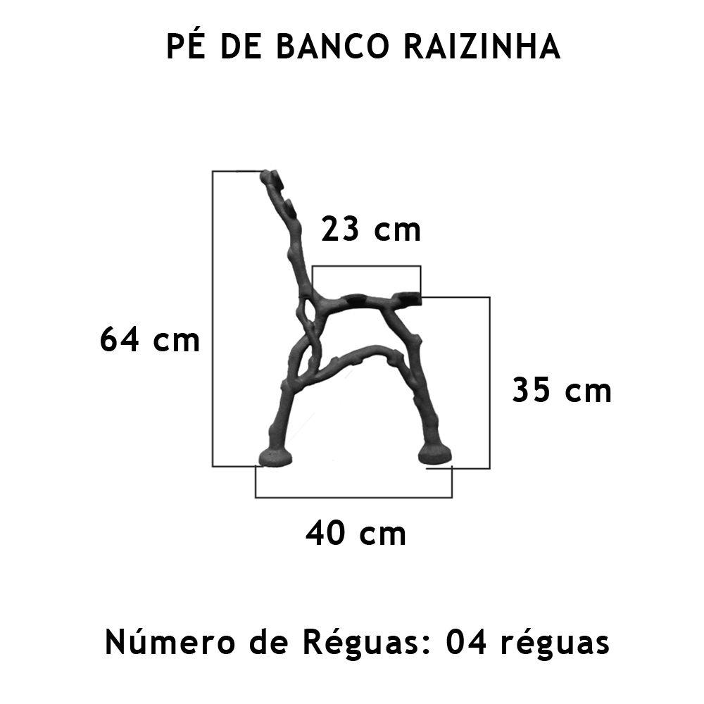 Par Pé De Banco Raizinha 4 Réguas - FUNDIÇÃO VESUVIO