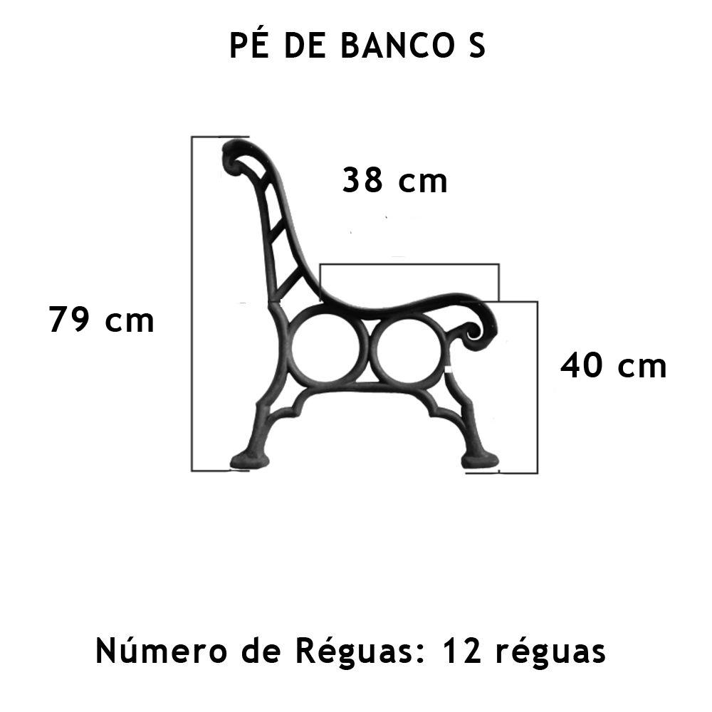 Par Pé De Banco S 12 Réguas - FUNDIÇÃO VESUVIO