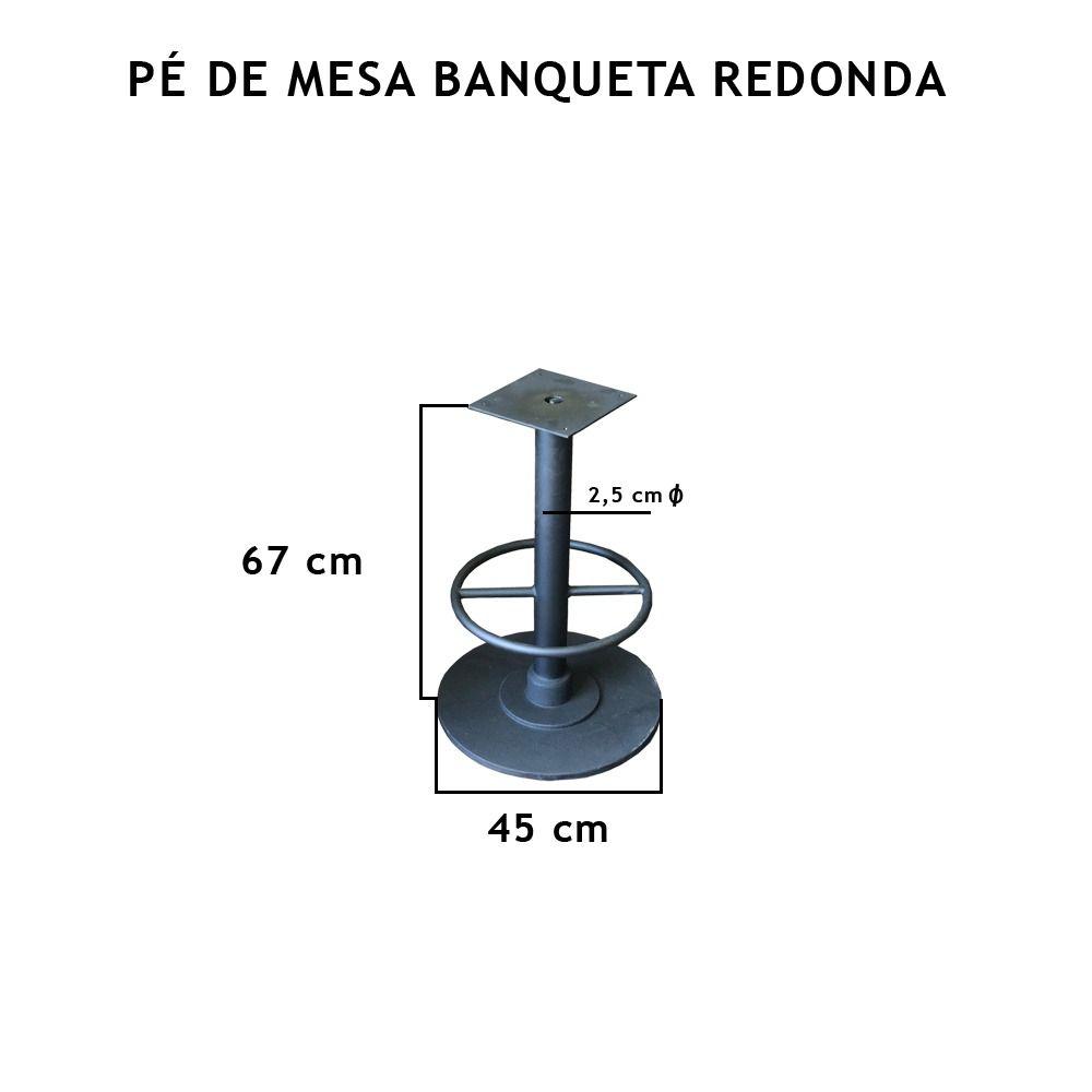 Pé de Mesa Banqueta Redonda - FUNDIÇÃO VESUVIO
