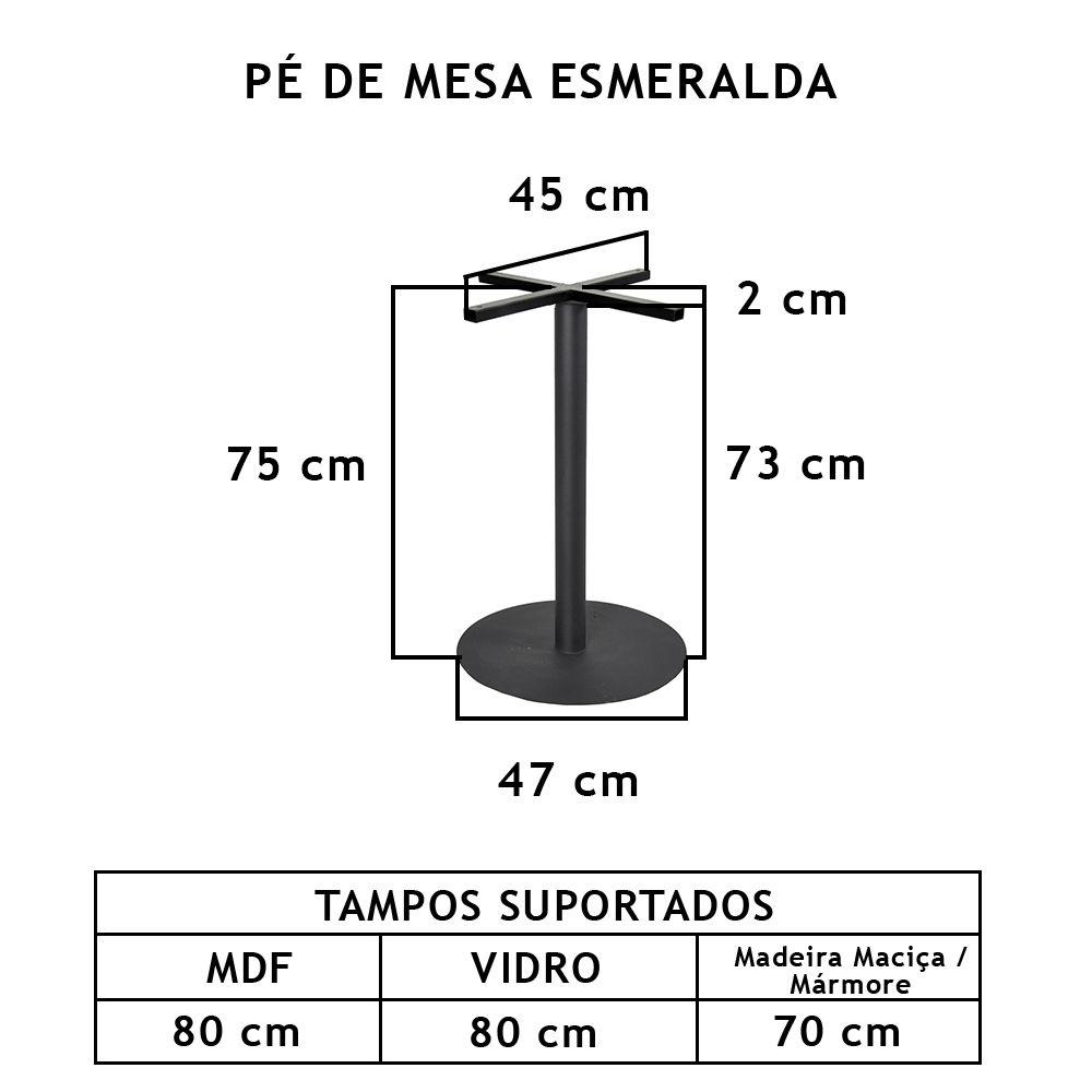 Pé De Mesa Esmeralda - FUNDIÇÃO VESUVIO