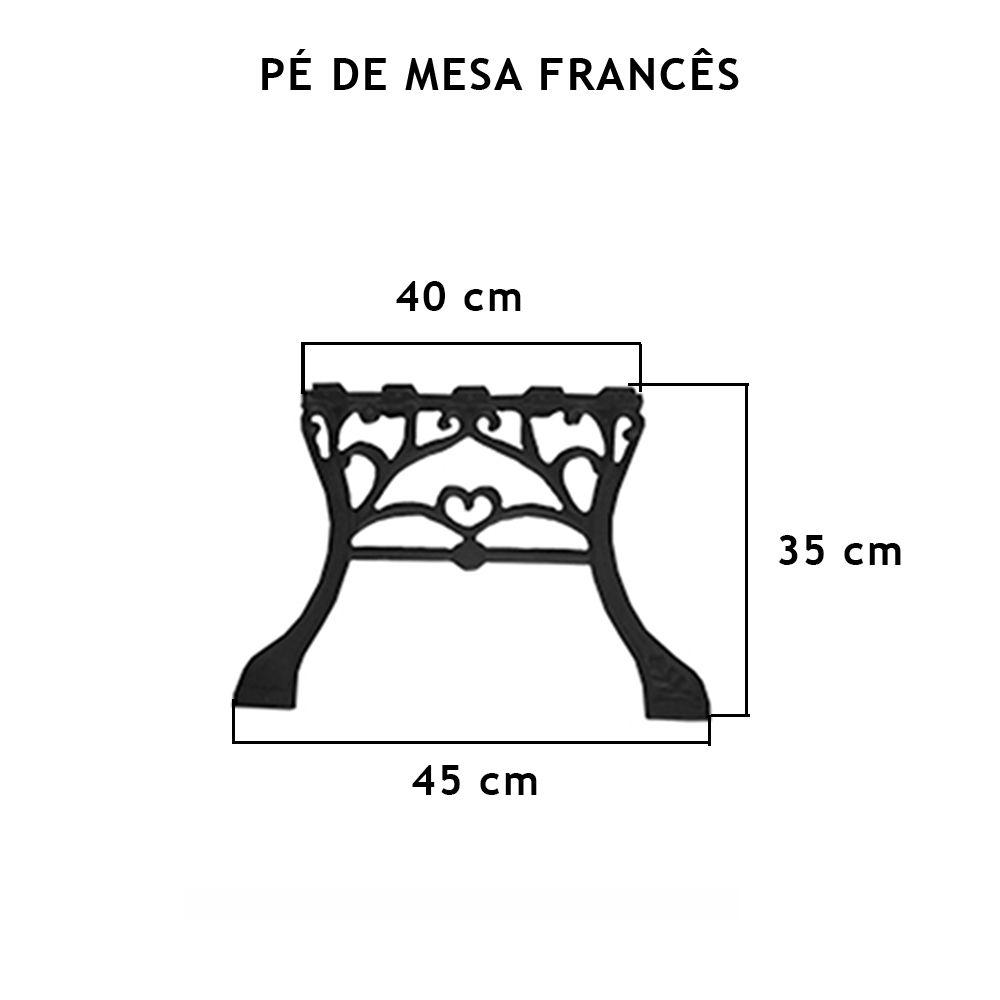 Pé De Mesa Frances (Par)  - FUNDIÇÃO VESUVIO
