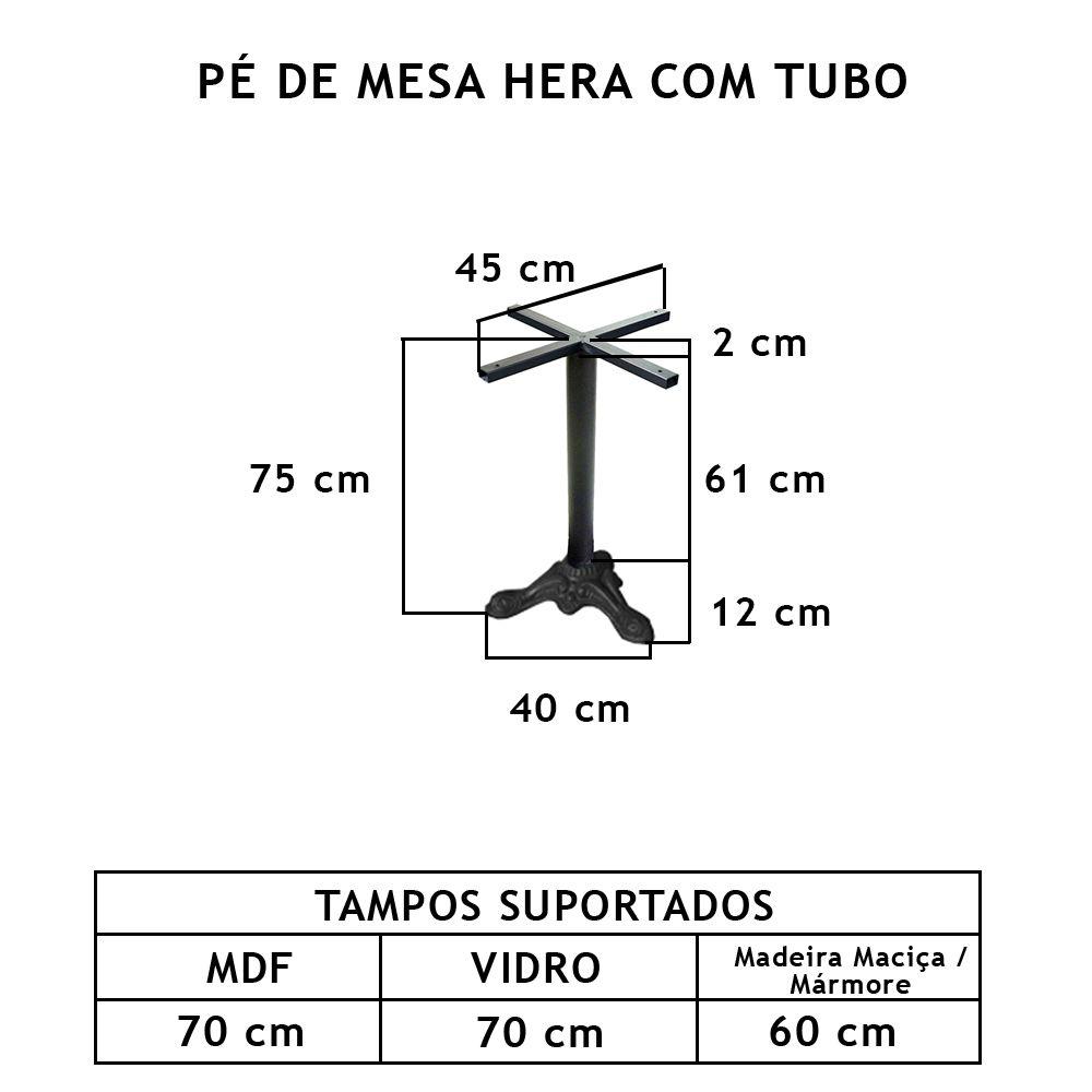 Pé De Mesa Hera Com Tubo - FUNDIÇÃO VESUVIO