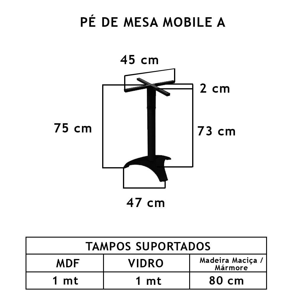 Pé De Mesa Mobile A  - FUNDIÇÃO VESUVIO