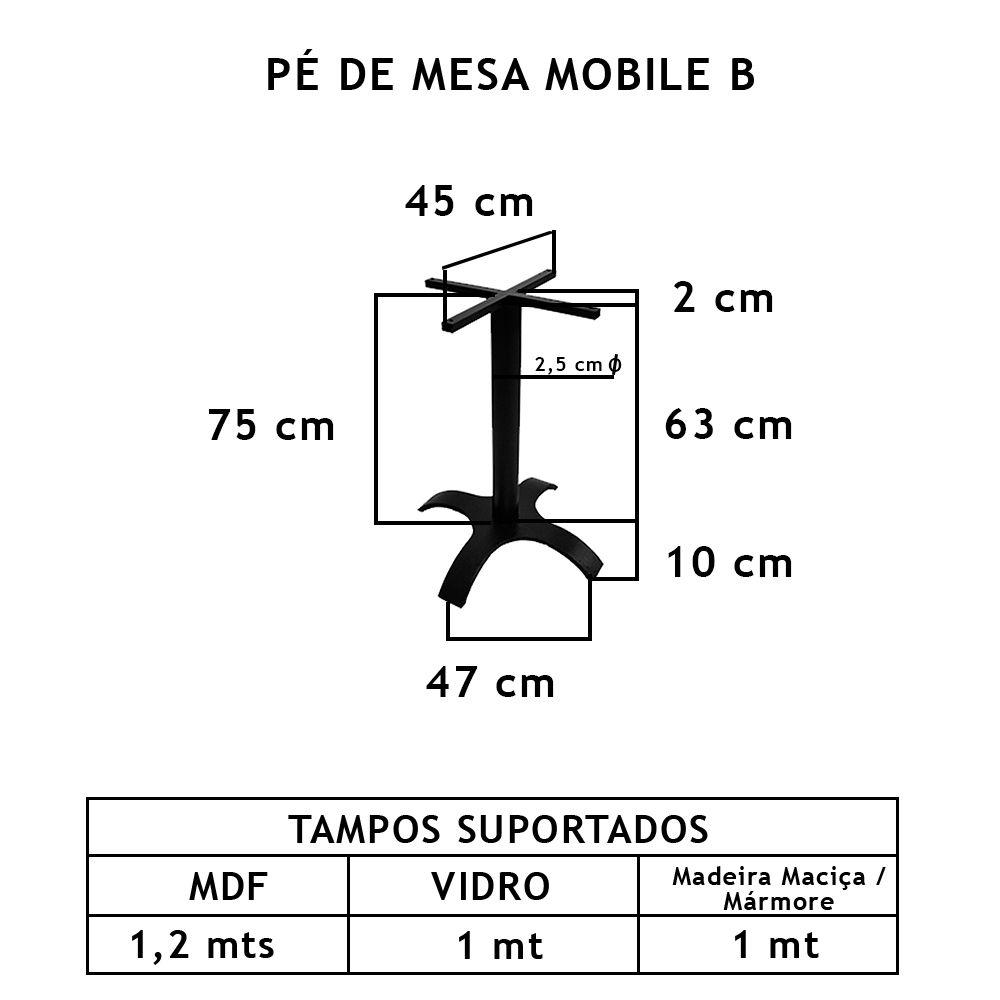 Pé De Mesa Mobile B  - FUNDIÇÃO VESUVIO
