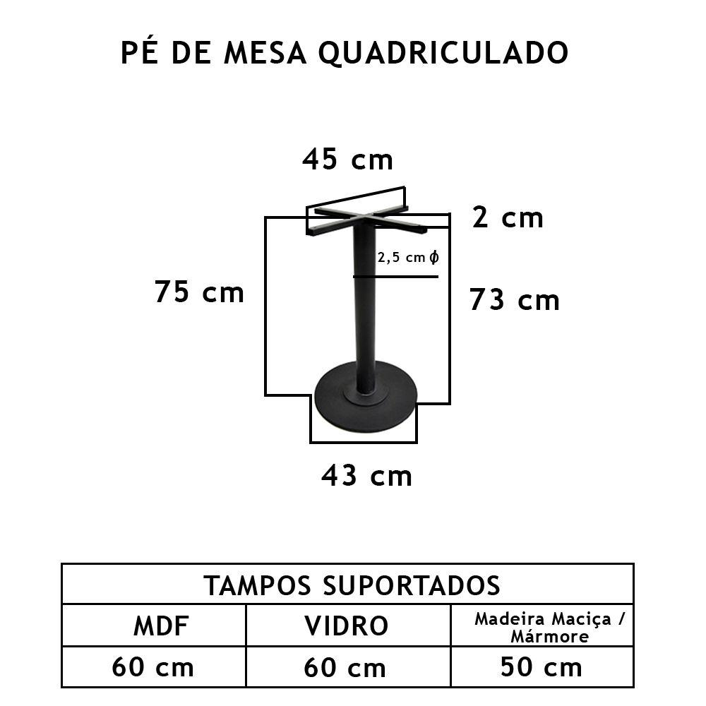 Pé De Mesa Redondo  - FUNDIÇÃO VESUVIO