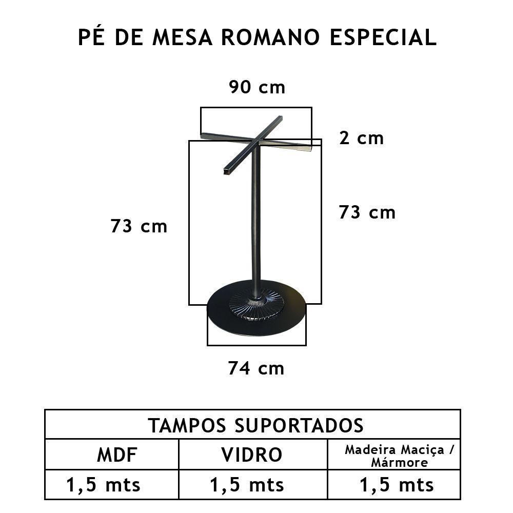 Pé de Mesa Romano Especial - FUNDIÇÃO VESUVIO