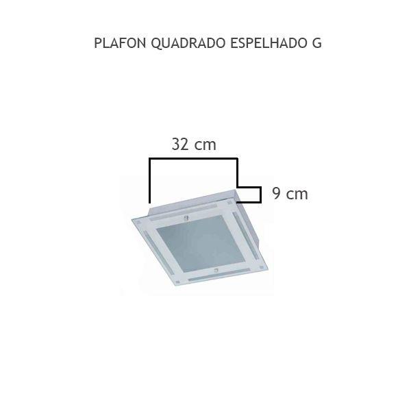 Plafon Quadrado Espelhado G - FUNDIÇÃO VESUVIO