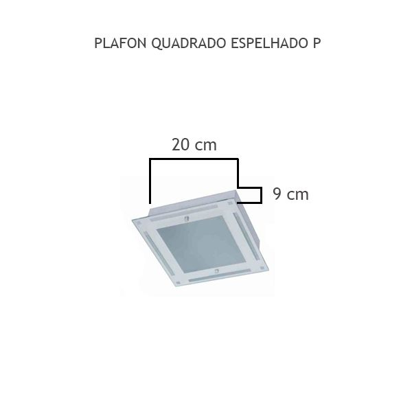 Plafon Quadrado Espelhado P - FUNDIÇÃO VESUVIO