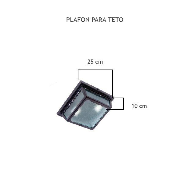 Plafon Quadrado P/ Teto - FUNDIÇÃO VESUVIO