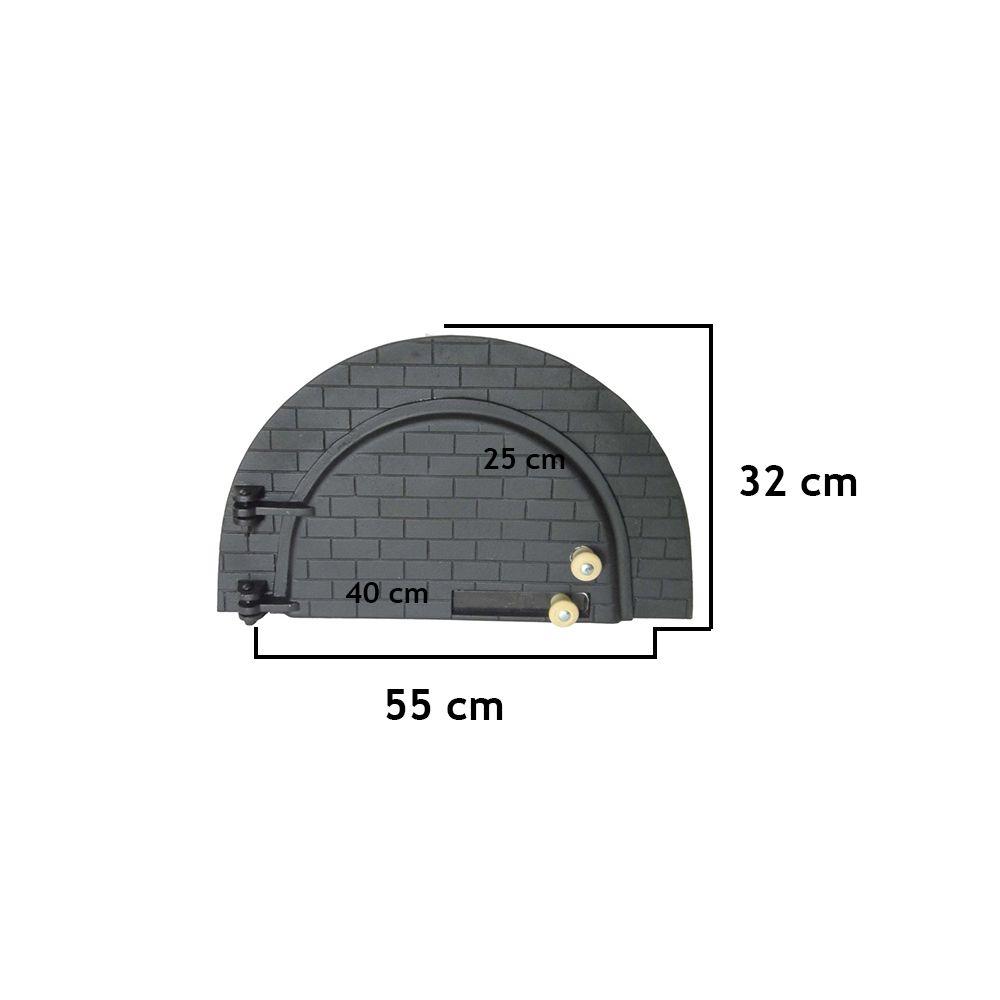 Porta Para Forno De Pizza Modelo 05 - FUNDIÇÃO VESUVIO