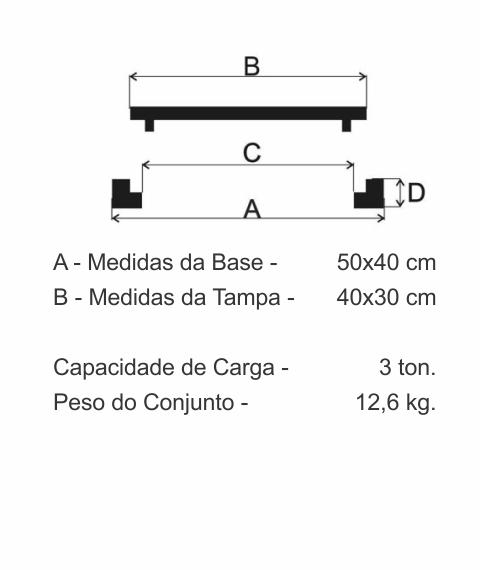 Tampão Cesan Articulado (40X30Cm) Em Ff - FUNDIÇÃO VESUVIO
