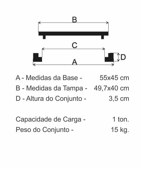 Tampão Incêndio Articulado (50X40Cm) Em Ff - FUNDIÇÃO VESUVIO