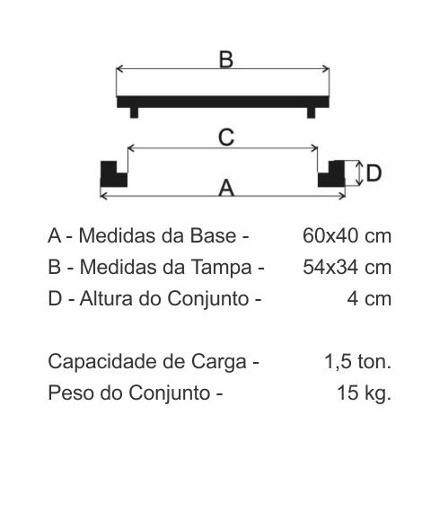 Tampão Incêndio Articulado (60X40Cm) Em Ff - FUNDIÇÃO VESUVIO
