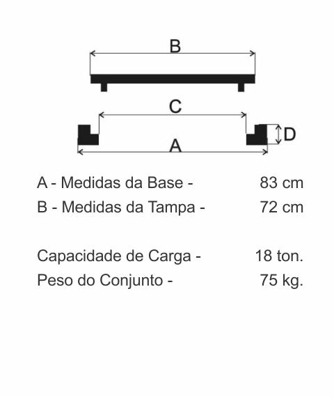 Tampão R3 Telefone Simples (72Cm) Em Ff - FUNDIÇÃO VESUVIO