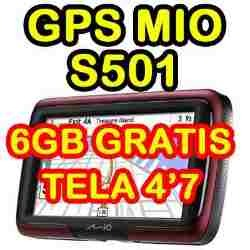 Gps Mio Moov S501 tela 4,7 pacote Full  - HARDFAST INFORMÁTICA