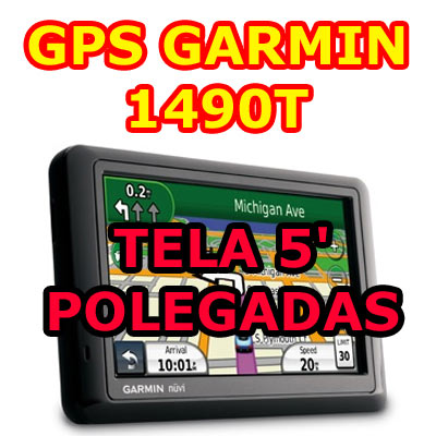 Gps Garmin Nuvi 1490T tela de 5 lancamento Brasil 2013 USA OFF Road Grava Percurso  - HARDFAST INFORMÁTICA