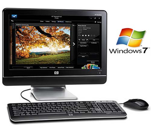 DESKTOP HP MS210BR ALL IN ONE DUAL CORE Windows 7 Seven 4gb  - HARDFAST INFORMÁTICA