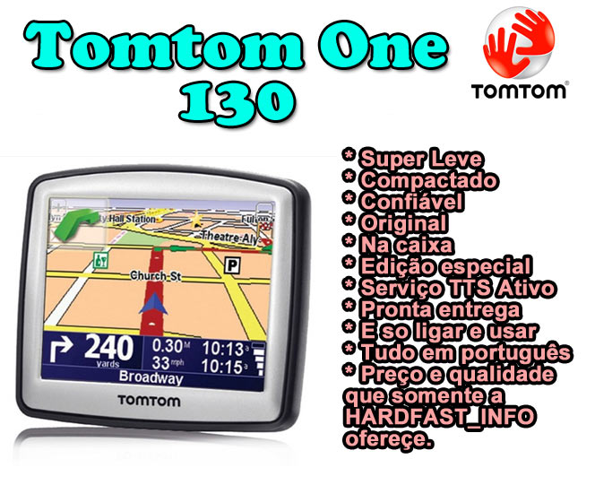 Gps Tomtom One 130 Brasil 2010/11 Radares Completo Original  - HARDFAST INFORMÁTICA