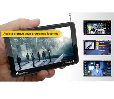 Gps Apontador SlimWay Tela 5 Tv Digital T500 T501 Historico de Transito  - HARDFAST INFORMÁTICA