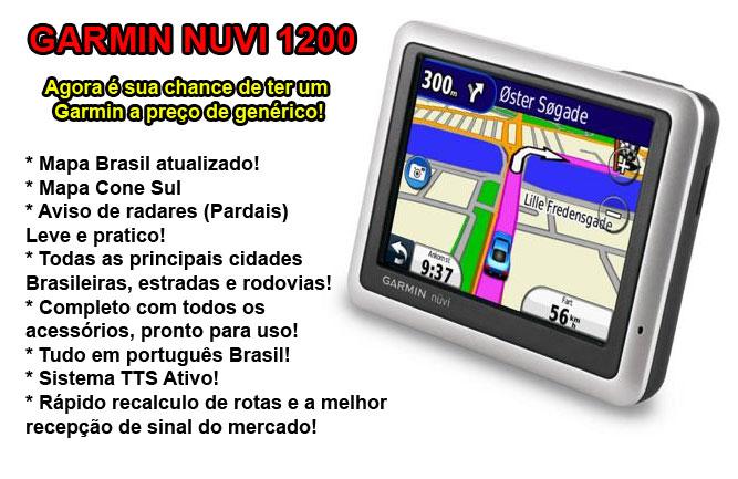 Gps Garmin Nuvi 1200 e 1100 Brasil 2012 radares completo brinde  - HARDFAST INFORMÁTICA