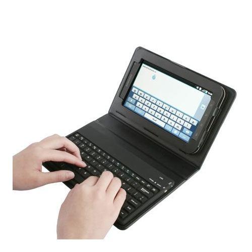 Case Capa Couro com teclado bluetooth Samsung galaxy p1000 p6200  tablet  - HARDFAST INFORMÁTICA