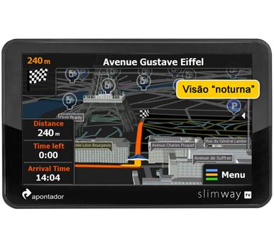 GPS Apontador Slimway TV G9 Tv Digital tela 5 polegadas  - HARDFAST INFORMÁTICA