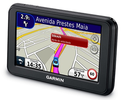 Gps Garmin nuvi 40 Slim Tela 4´3 Brazil 2013 Aviso de Radares  - HARDFAST INFORMÁTICA
