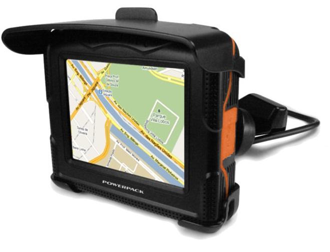Gps Moto e Carro A prova de Água Powerpack Bluetooth Brasil  - HARDFAST INFORMÁTICA