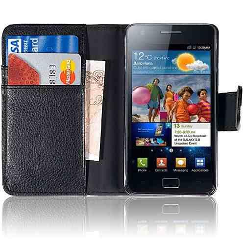 Capa Carteira Galaxy S2 i9100 Couro Pu Samsung Black Celular  - HARDFAST INFORMÁTICA