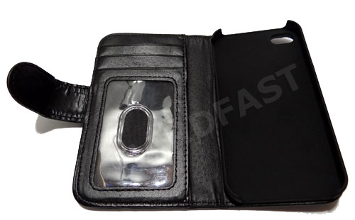 Capa Carteira IPhone 4 4s Couro Pu Apple Black Clip Imã Wall  - HARDFAST INFORMÁTICA