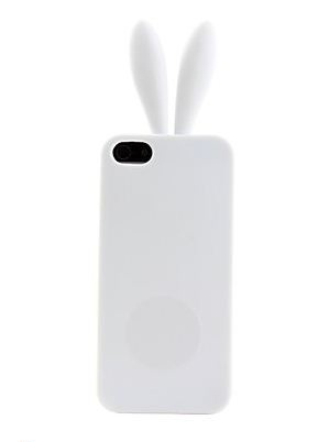 Capa Coelho Iphone 5 5g Silicone Orelha branco Frete Grátis  - HARDFAST INFORMÁTICA