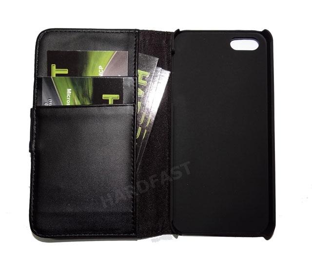 Capa Carteira Iphone 5 5g Couro Pu Apple Black Clip Cartão  - HARDFAST INFORMÁTICA