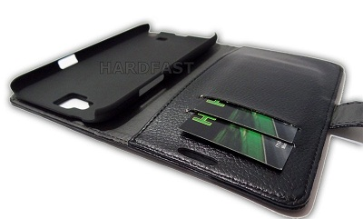 Capa Carteira Galaxy Note 2 N7100 Couro Pu Samsung Black BR  - HARDFAST INFORMÁTICA