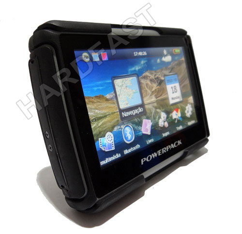 Gps Moto Powerpack tela 4.3 Bluetooth Prova Chuva Igo Brasil m450  - HARDFAST INFORMÁTICA